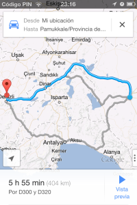Ruta: Konya a Pammukale (5 horas,55 minutos)
